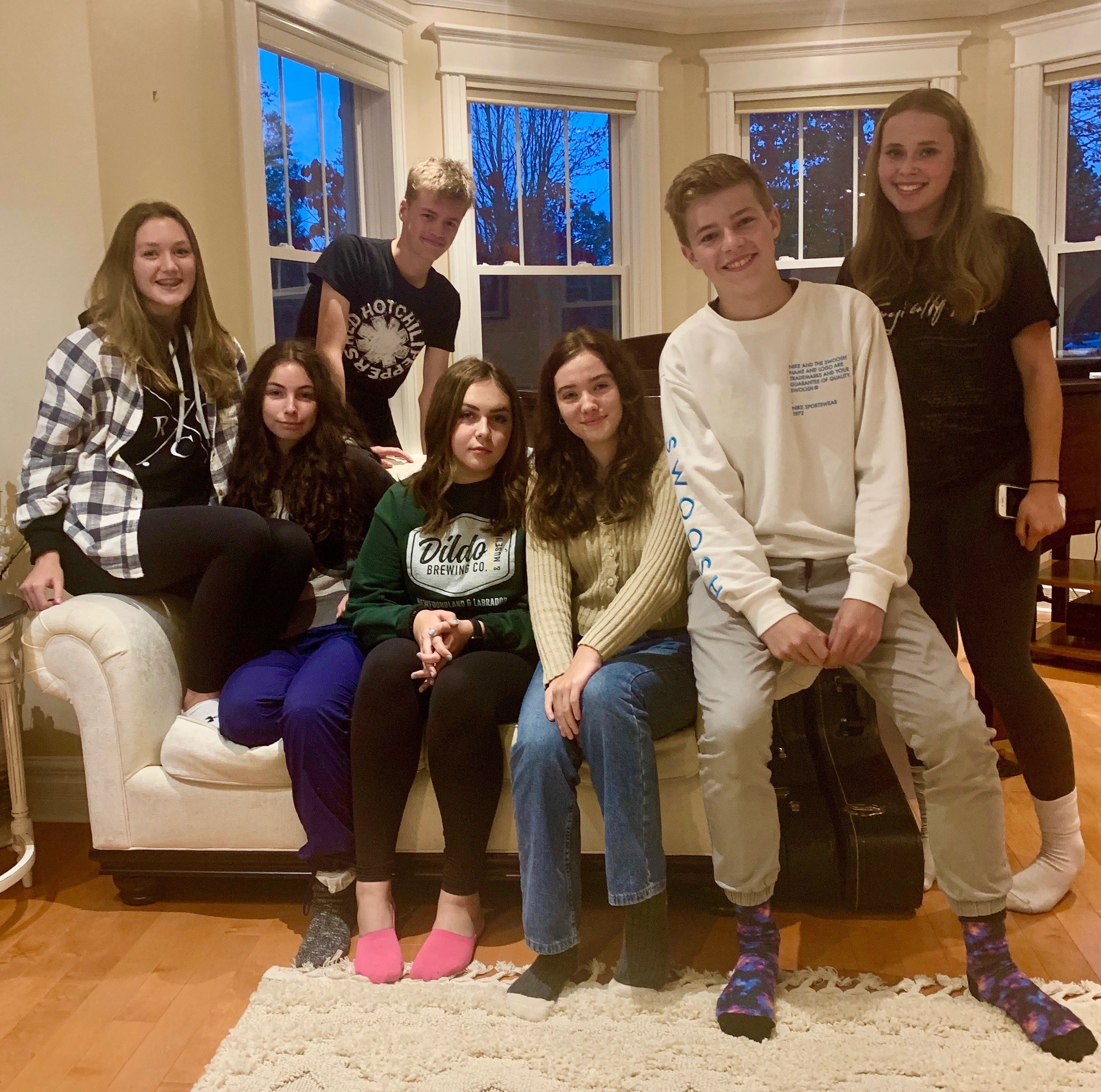 Corner Brook's Game Changers include from left, (front) Clare Coleman, Amber Hann, Caylee Bowring, Trinity Brown, Max Pittman and Jill Callahan and (back) Jack Wareham.