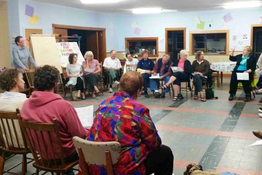 People gathered in Shelburne in an effort to bring a refugee family to the area.<br /><br />
