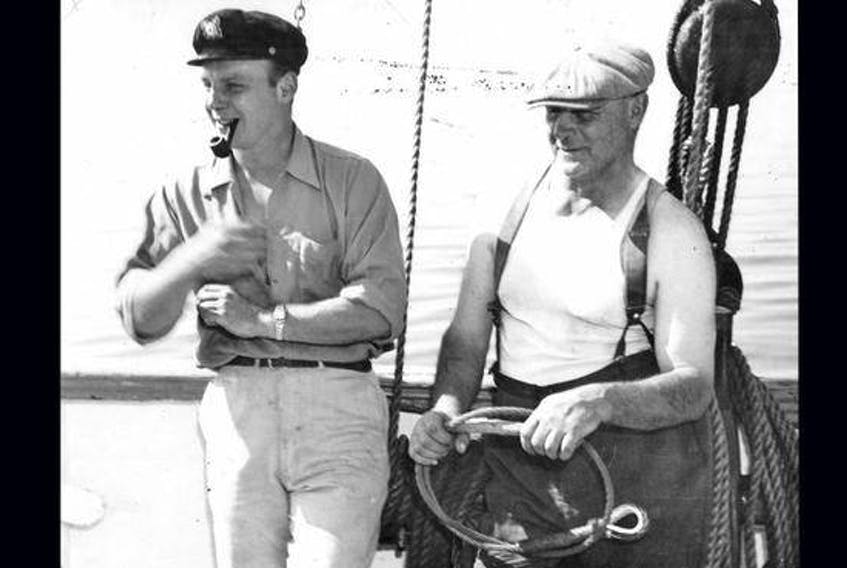 Walter Boudreau and mate Art Holmans onboard Yankee.  (CONTRIBUTED)