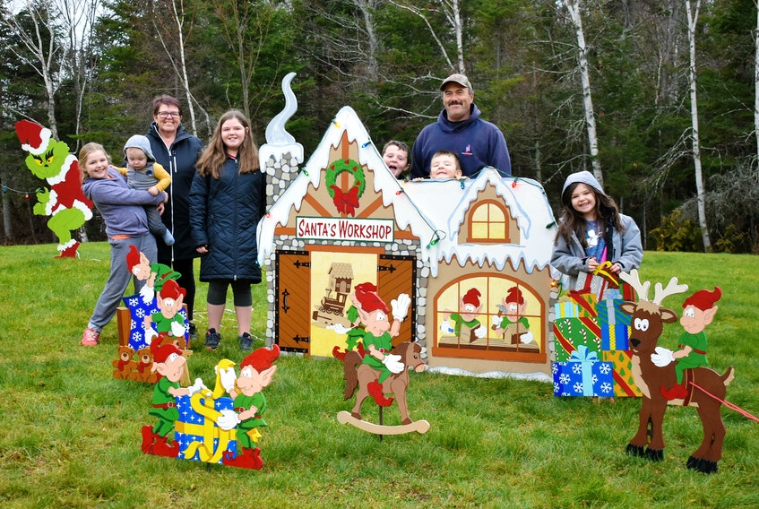 Not even the Grinch can steal Christmas from Audrey and William MacLaurin, along with their six grandchildren, that come together each year to build and paint a festive plywood scene for their front yard. The bright display is a big hit with local families, who slow down their cars or stop to snap photos.