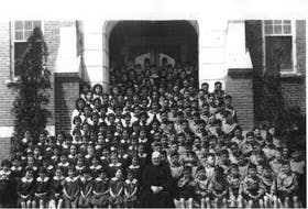 Mi'kmaq children attending Shubenacadie School.