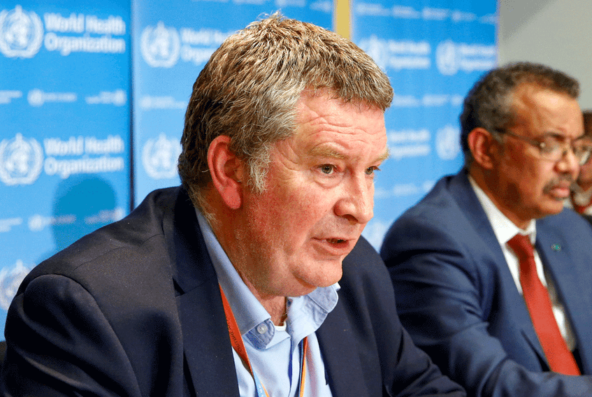 Mike Ryan, executive director of the World Health Organization's emergencies program, speaks at a news conference on the novel coronavirus in February 2020.