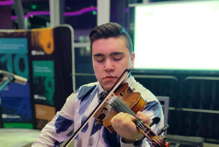 Morgan Toney hopes more Mi'kmaq people take up the fiddle. CONTRIBUTED/Geordy Marshall