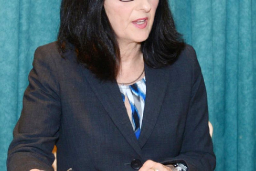"""<span class=""""COLOURKicker"""">Auditor General Jane MacAdam answers questions following the release of her 2016 annual report in Charlottetown on Wednesday.</span>"""