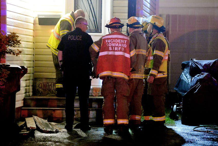 A mount Pearl property was firebombed a third time in less than a week early Monday morning. Keith Gosse/The Telegram