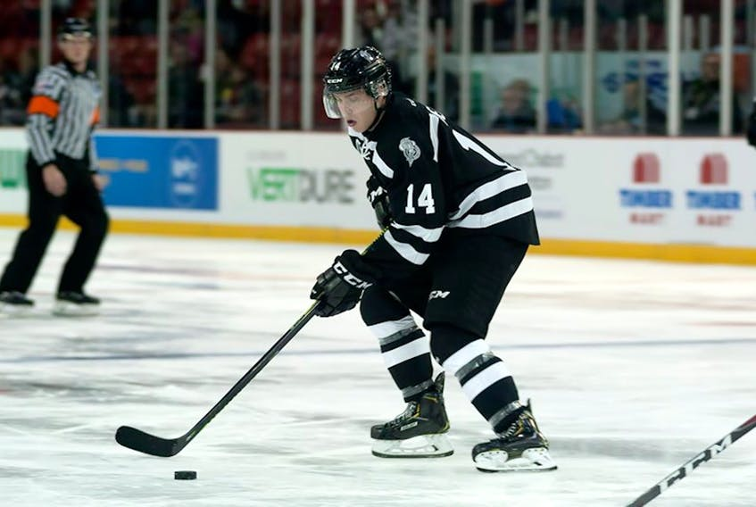 Mount Pearl's Zach Dean of the Gatineau Olympiques is on the NHL Central Scouting Bureau's 2021 preliminary players to watch list for the '21 NHL draft.  — Gatineau Olympiques photo/Facebook