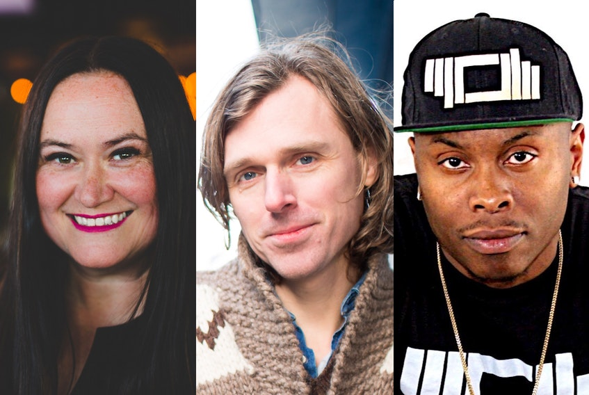 From the left, Shelley Chase, Joel Plaskett and Corey Writes. — CONTRIBUTED