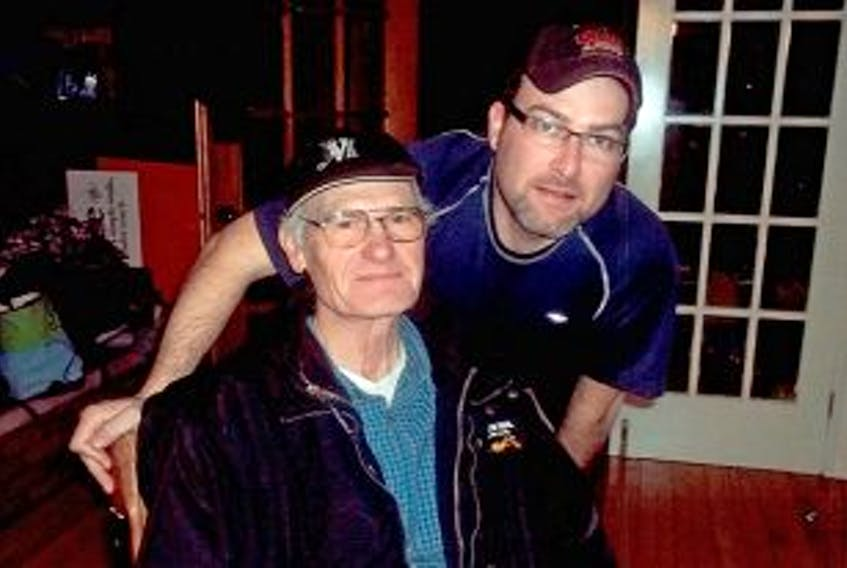 ['The McGuigan family has provided this photo of Brent McGuigan, 68 and his son, 39-year-old Brendon McGuigan.']