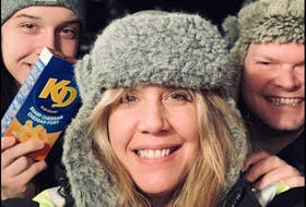 Jordyn Crocker, left, Jennifer Sheppard, centre, and Stephen Muise, get ready to perform during one of their weekly Garbage Night sessions that raised close to $100,000 for local charities. CONTRIBUTED