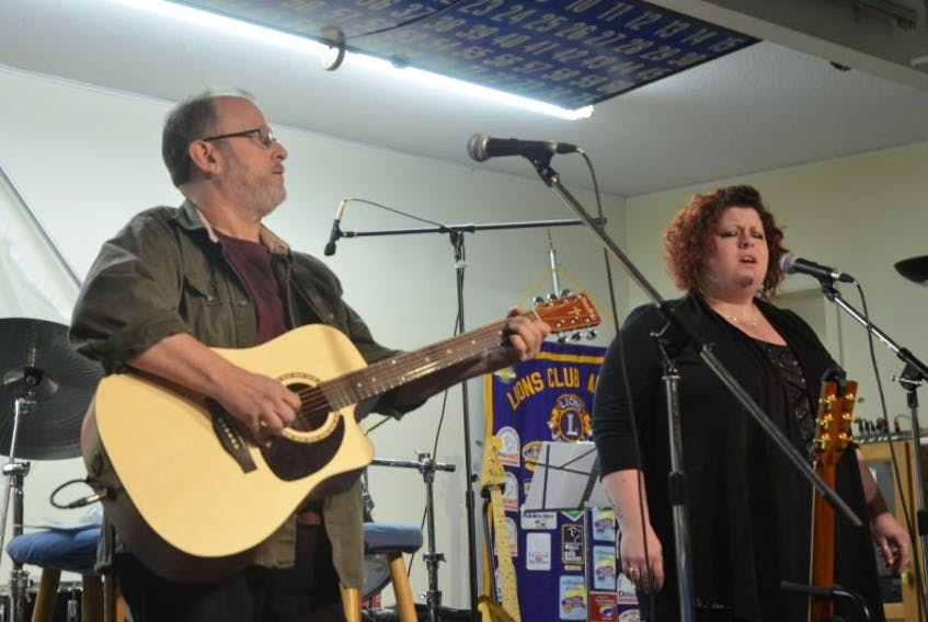 The father-daughter duo Left of Centre was certainly a crowd favourite at the Musical Gift for the Upper Room Food Bank.