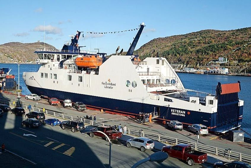 <p>Telegram file<br />The province's new ferry MV Veteran sits docked in St. John's. The vessel's builder , Damen Shipyards, has confirmed that it will provide a longer warranty and more oversight.</p>