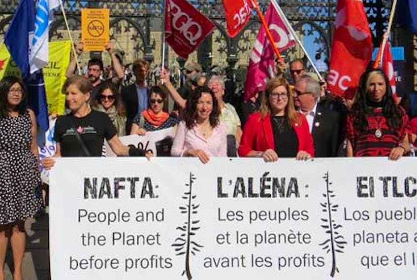 Rosalind Waters of the Guatemala-Maritimes Breaking the Silence Network submitted this photo of people protesting the USMCA trade agreement that replaces NAFTA.