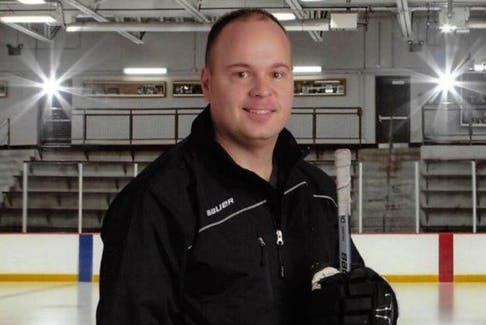 Sgt. Danny Murrin is one of three RCMP officers who serve as volunteer coaches for the western zone's AA teams for 11-year-olds and 12-year-olds. - Photo Contributed.