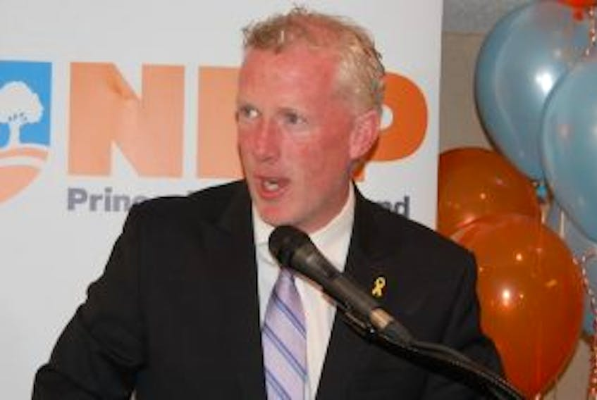 ['NDP Leader Mike Redmond in this May 4, 2015 photo. ']
