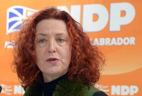 Newfoundland and Labrador NDP leader Allison Coffin released the party's platform on the adult dental plan Monday.  Keith Gosse/The Telegram
