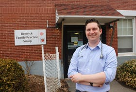 Dr. Chris McKay recently joined the Berwick Family Practice after deciding to start his medical career here in the Annapolis Valley. PAUL PICKREM