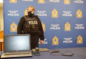 Const. Kelly Moore-Reid is one of the officers taking part in a pilot project for body cams at the New Glasgow Regional Police.