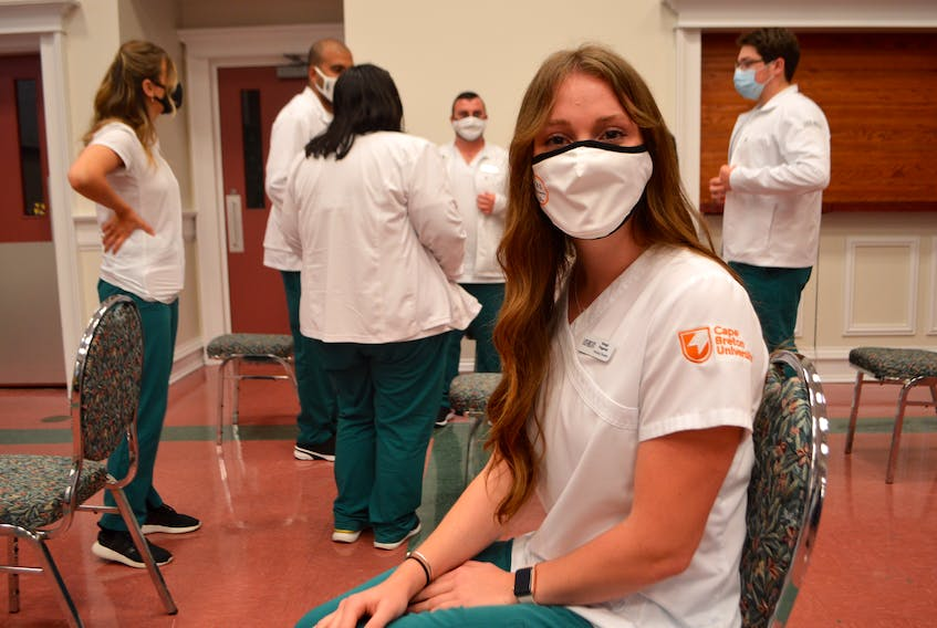Breagh Fitzgerald of Boston, Mass., a student in the bachelor of science nursing program at Cape Breton University, said growing up she not only knew she wanted to study nursing but knew she wanted to do so at CBU. Sharon Montgomery-Dupe/Cape Breton Post