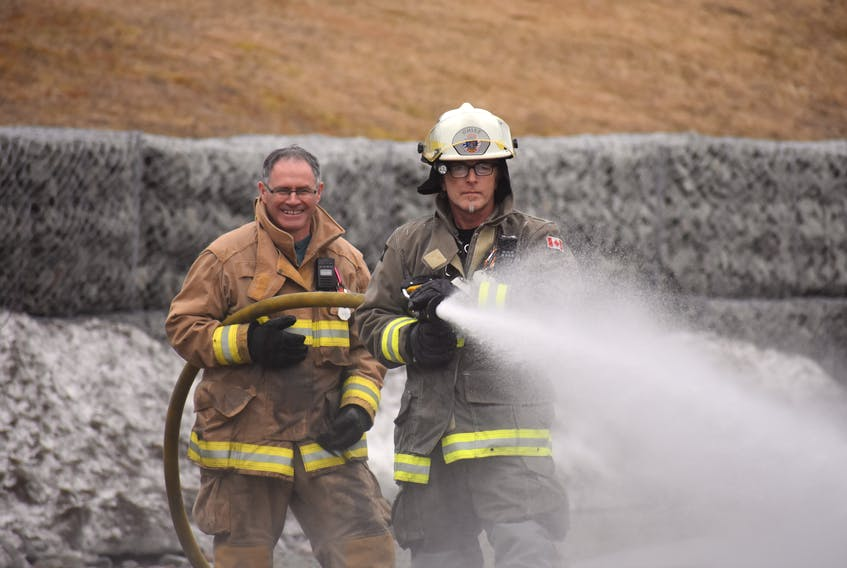 Baie Verte Fire Department Fire Chief Lorne Head (front) says regional fire departments should be the future of firefighting in rural Newfoundland and Labrador. SaltWire Network file photo