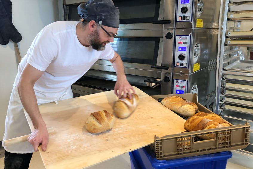 """Peter Hogan, baker and owner of Torbakery: """"What most people think of as bread is not actually bread; it's a mass-produced product from the supermarkets that isn't healthy, it's not good for you, and I want to help bring back real bread. That's why I became a baker.""""-JUANITA MERCER/THE TELEGRAM"""
