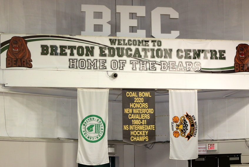 The sign inside the gymnasium that welcomed players and spectators for the 38th annual Coal Bowl Classic basketball tournament, New Waterford's winter carnival, which runs from Feb. 3-8. Over the years some games, players and weather have left lasting impressions on fans. NIKKI SULLIVAN/CAPE BRETON POST