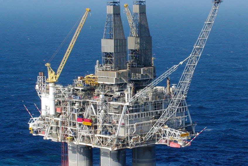 While production operations continue at the Hibernia platform, drilling has shut down. A Hibernia Management and Development Company spokesperson says the company is looking to reduce spending as a result of market conditions. -TELEGRAM FILE PHOTO