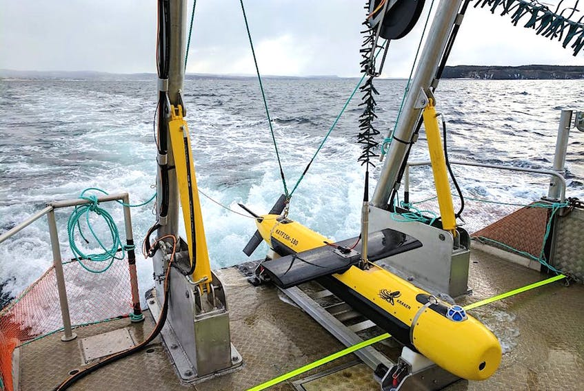 Kraken Robotic's Katfish, a high-speed device used to map the ocean bed in ultra-high definition. Kraken has delivered two Katfish to an American customer specializing in underwater security. The second sale was a big factor in Kraken's financial report for the opening quarter of 2020, which showed the Mount Pearl-based company with a net profit for the first time. CONTRIBUTED