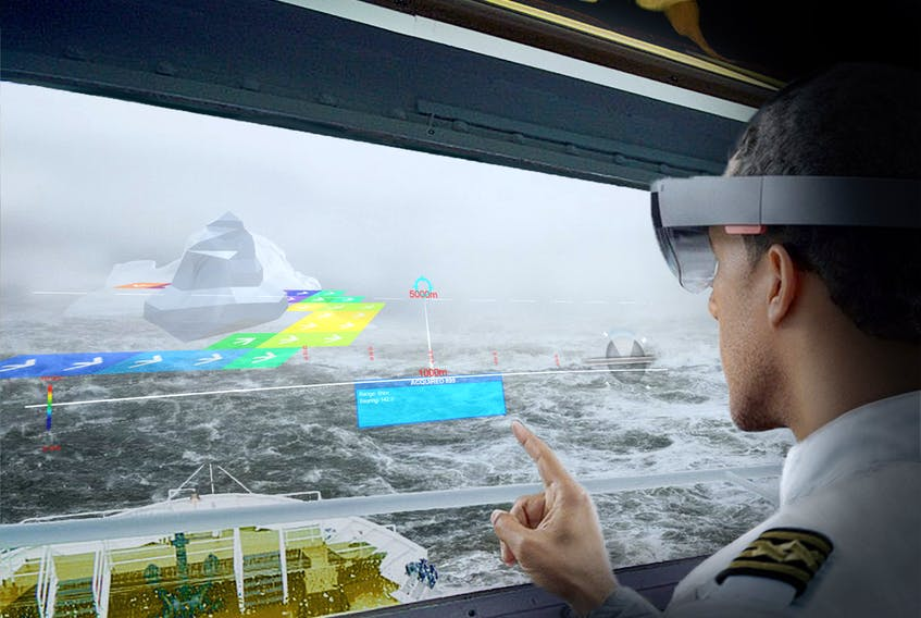 The prototype developed by St. John's company Engage Creative Technologies uses augmented reality to allow mariners to see navigational dangers at night and in foggy and poor light situations.