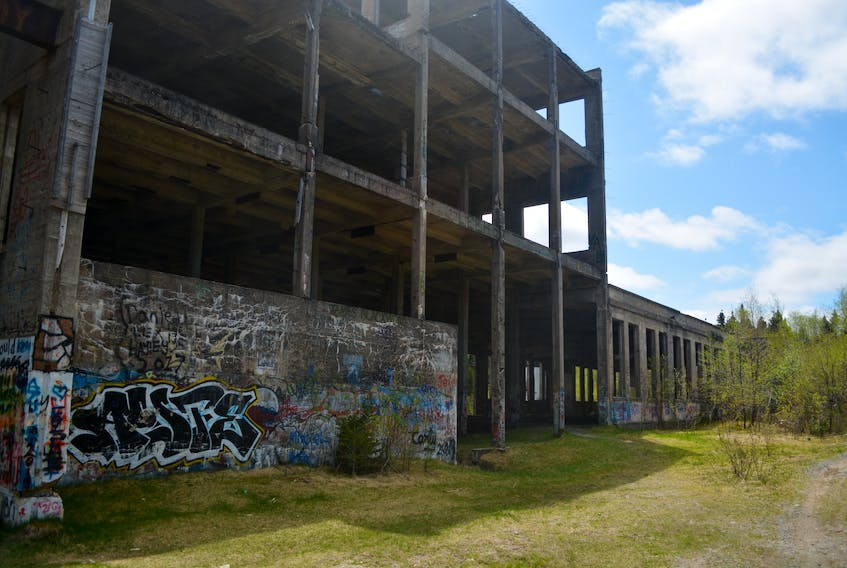The old Terra Nova Sulphite Co. Mill in Glovertown is at the centre of the town's future plans for a hiking trail in the area. Nicholas Mercer/Saltwire Network