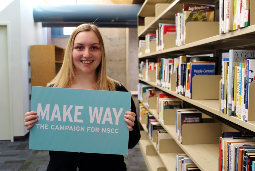 Kendra Mattinson is one of many students helped through the Make Way campaign at NSCC.