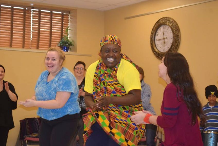 Mufaro Chakabuda makes them move. As founder of the Maritime Centre for African Dance, Chakabuda demonstrated traditional and modern African dance and drumming with percussionist Andrew Dahms.