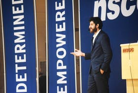 Tareq Hadhad was the guest speaker at the NSCC campus in Stellarton on Thursday as part of their Invest in Your Success conference. His family founded Peace By Chocolate in Antigonish.
