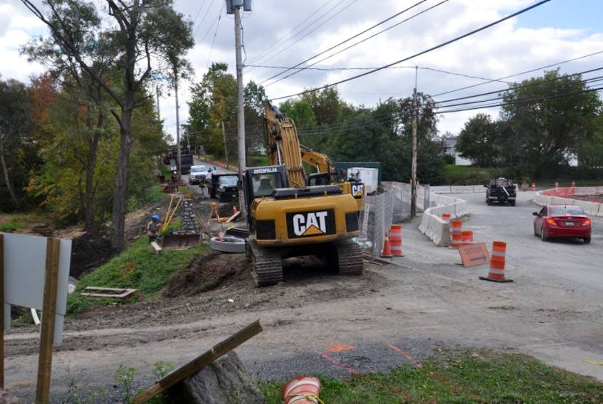 Although the replacement of a culvert under Main Street in Trenton is complete, crews will continue working to restore the road until the end of the month.