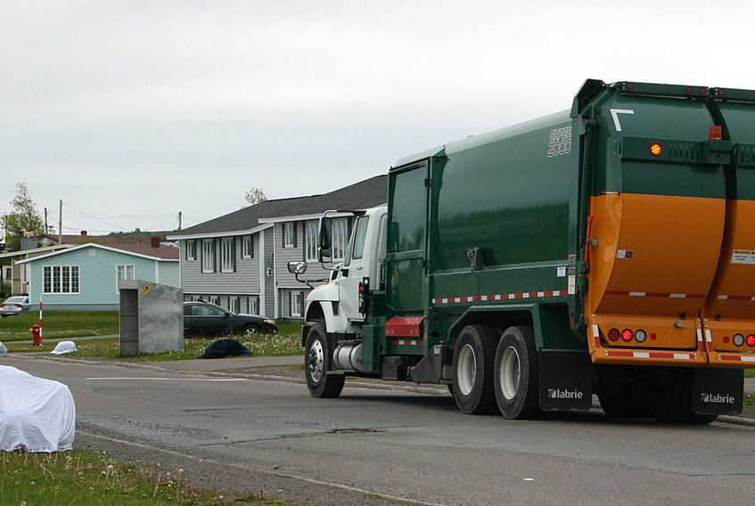 Waste is picked up in Grand Bank by the Burin Peninsula Regional Service Board's contractor in this file photo. FILE/SALTWIRE NETWORK