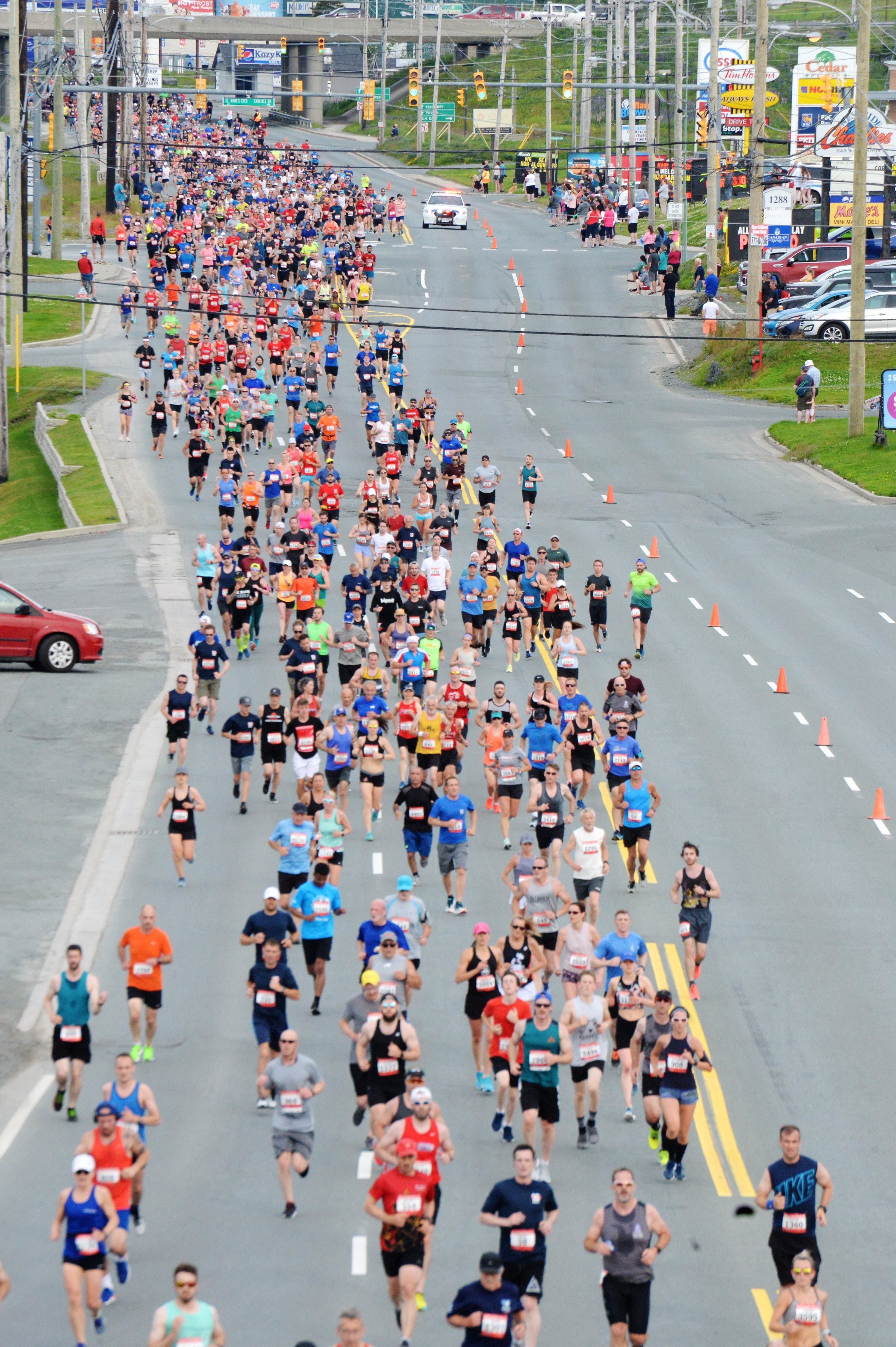 The Tely 10 routinely draws in excess of 4,000- or 5,000-plus runners and walkers each summer. — Telegram file photo