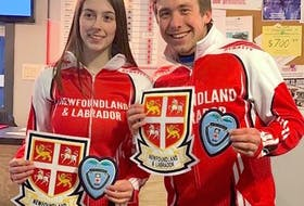 MacKenzie Mitchell and Greg Smith will represent Newfoundland and Labrador at the Home Hardware Canadian mixed doubles championship in Calgary starting later this week. — Telegram file photo