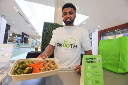 Nevell Provo, CEO and co-founder of Smooth Meal Prep. The business provides a service of preparing healthy meals to the door. ERIC WYNNE/Chronicle Herald