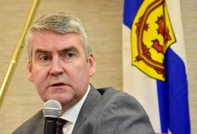 Premier Stephen McNeil speaking in Yarmouth on Feb. 14. TINA COMEAU PHOTO