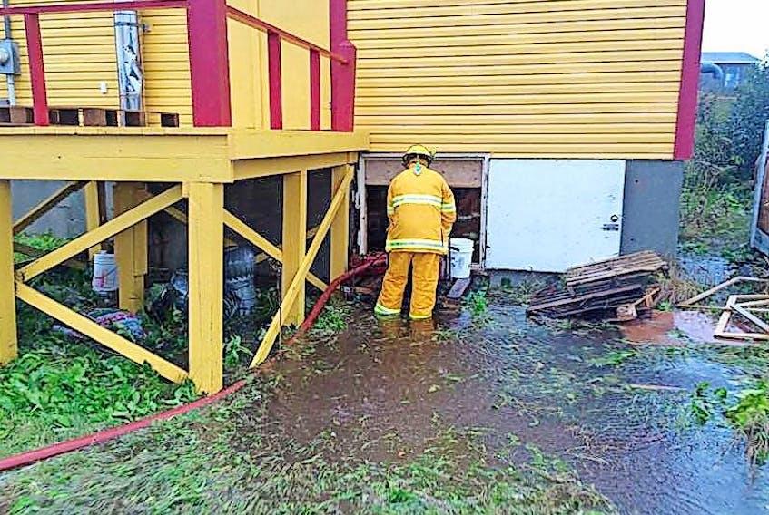 The St. Lunaire-Griquet Fire Department was kept quite busy during Thursday's rainstorm.