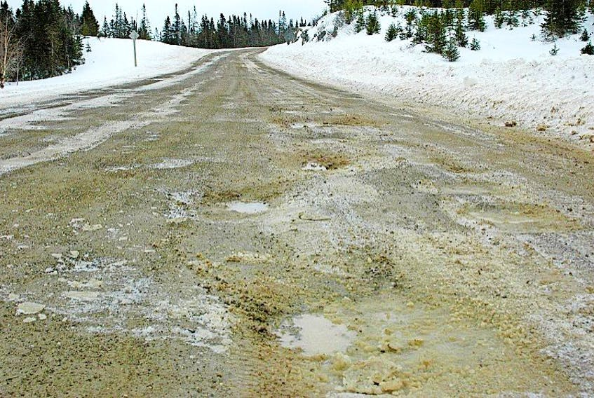 With spring temperatures setting in, Route 434 (Conche Road) is again opening. Soon it will become soft, muddy and potholed.