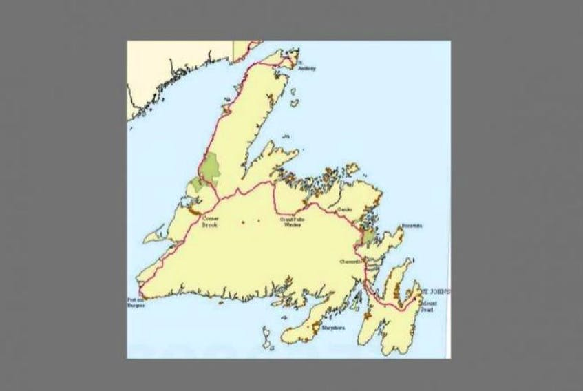 Brown dots speckle the map of Newfoundland, each dot denoting the location of a wastewater outfall. There are 742 — mostly untreated and undertreated — wastewater outfalls, according to a Department of Environment database.