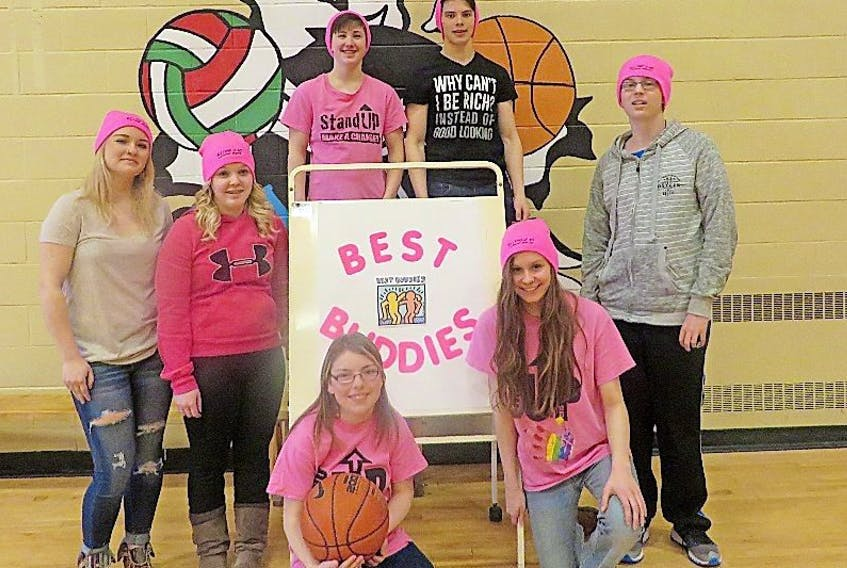 The Best Buddies group at Labrador Straits Academy has a lot of fun taking part in the Hooping it up event last week.
