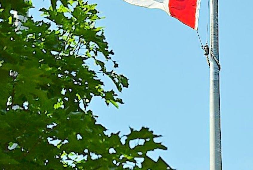 Canadian flag flying at Memorial University. � Photo by Gary Hebbard/The Telegram