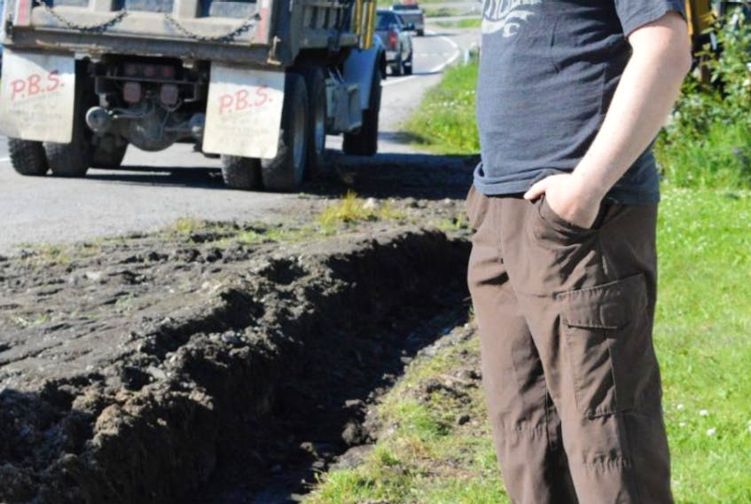 After a lengthy period of requests, denials and change of plans, Mitchell Hunt went ahead and had a ditch dug on his property in St. Anthony. He says due to recurring water damage and difficulties with the Department of Transportation and Works, he dug the ditch himself without the department's approval.