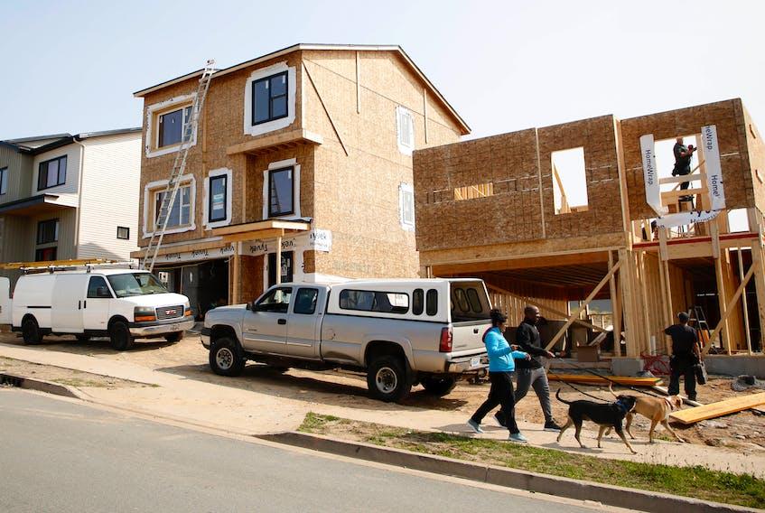 Houses under construction in a subdivision in the Spryfield neighbourhood of Halifax. TIM KROCHAK PHOTO