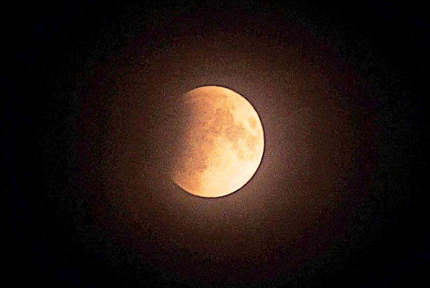 This weekend's penumbral eclipse will not be as prominent or as red as this eclipse from March 2015.