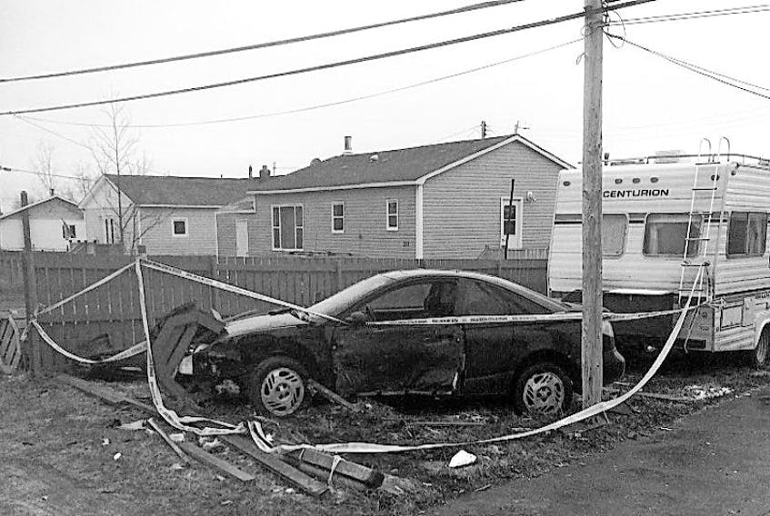 On Nov. 21 at 4:12 a.m., Springdale RCMP responded to this single motor vehicle accident at 225 Main St. in Springdale.