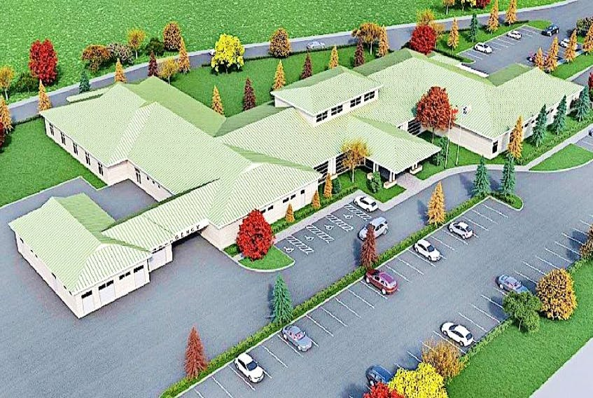 An artist's representation of what the new Green Bay Community Health Care Centre will look like is in its final stage. Tenders for Phase 2 are being called towards the end of the summer/ fall.