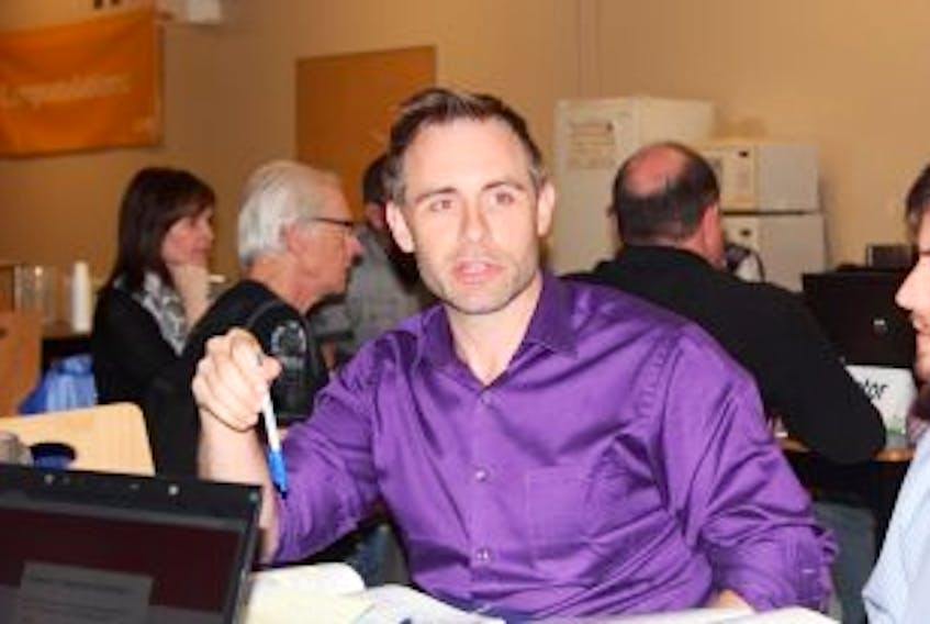 ['Baie Verte councillor Scott Furey was one of very few people to attend last week's public consultation on regional government in Baie Verte.']