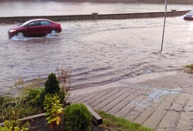 Flooding around Armdale Rotary and Quinpool Road is seen in this file photo from June 2014.